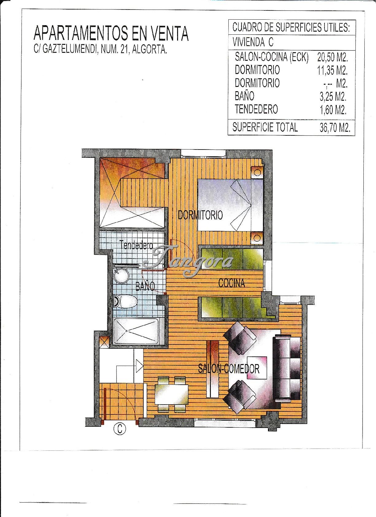 Próxima construcción de precioso apartamento en el centro de Algorta.